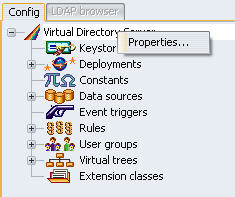 Virtual Directory Servier Properties